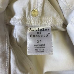 Articles Of Society Jeans - Articles of Society White skinny Jeans